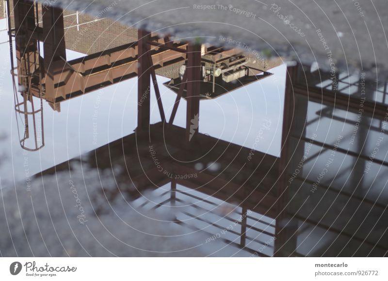 AST7 Pott   pfützen contest Kohlekraftwerk Industrie Erde Wasser Himmel Wolkenloser Himmel Sonnenlicht Schönes Wetter Reflexion & Spiegelung Industrieanlage