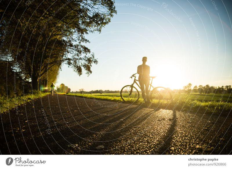 Mit Rad und Tat Mensch Frau Jugendliche Sommer Sonne Erholung Junge Frau Freude Erwachsene Straße Herbst Wege & Pfade Sport Lifestyle Freizeit & Hobby Fahrrad