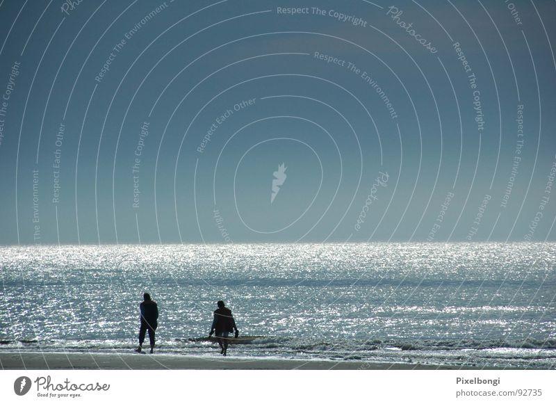 Fernweh Meer ruhig Strand Ferne Freiheit Spaziergang Abenddämmerung Niederlande Texel