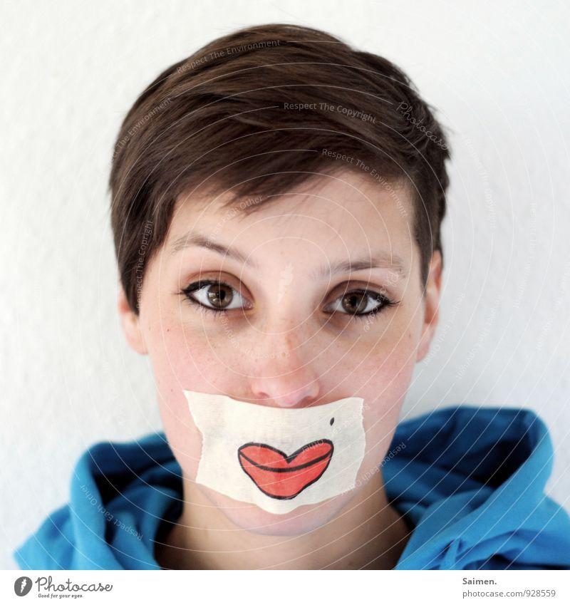 :-* Mensch Frau Jugendliche schön Junge Frau 18-30 Jahre Erwachsene Gesicht Auge Leben Gefühle feminin Liebe Glück Haare & Frisuren Kopf