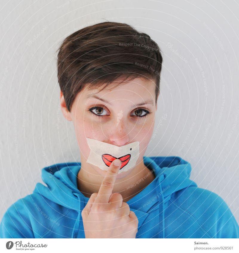 ° Mensch feminin Junge Frau Jugendliche Kopf Haare & Frisuren Gesicht Auge Lippen 18-30 Jahre Erwachsene Blick Gefühle Lebensfreude selbstbewußt schön