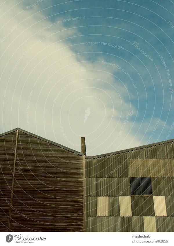 VARY ME Himmel Haus Wolken Straße Holz Gebäude Architektur Industrie verfallen Grenze Holzbrett Schornstein Lager Baracke improvisieren