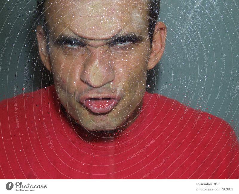 ich bin kein Monster Mann Gesicht Wut Ärger Hass Grimasse Schrecken