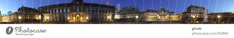 round the world Dresden Panorama (Aussicht) Zwinger Nacht ungeheuerlich HDR historisch Kunst Kunsthandwerk ringsum breit sehr breit extra breit dri groß