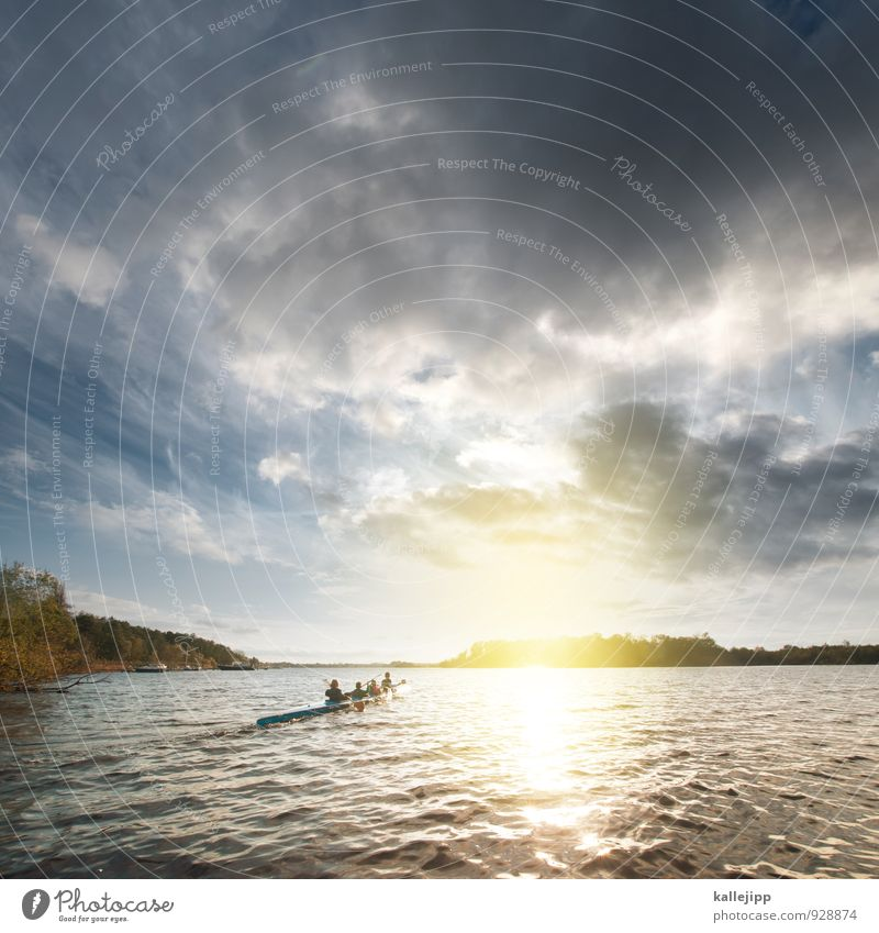 entenfamilie Freude Gesundheit sportlich Fitness Ausflug Abenteuer Ferne Freiheit Wintersport Kind lernen Wasser Wolken Sonne Sonnenaufgang Sonnenuntergang