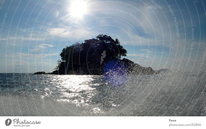Islanddreams Meer Insel Wasser Sonne blau Himmel wassersprizer tropische insel