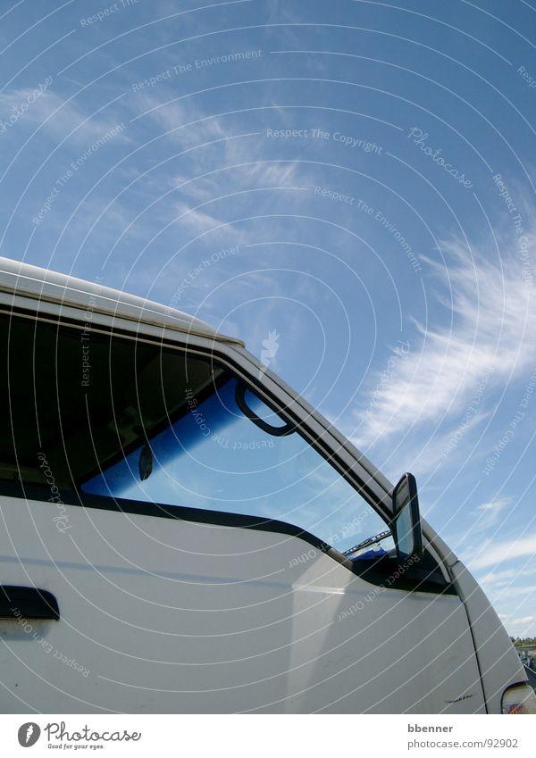 Sommerhimmel Himmel Ferien & Urlaub & Reisen Wolken Fenster PKW Bus Fensterscheibe