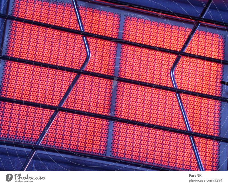 Heizstrahler rot kalt Wärme Brand Physik Gas