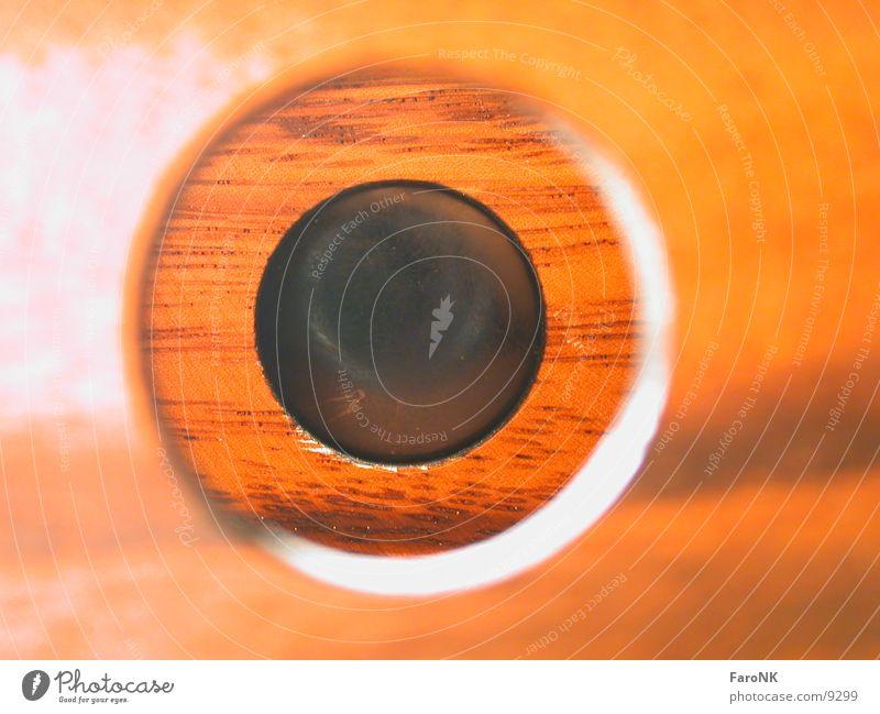Durchblick Loch Holz Makroaufnahme Nahaufnahme Kasten