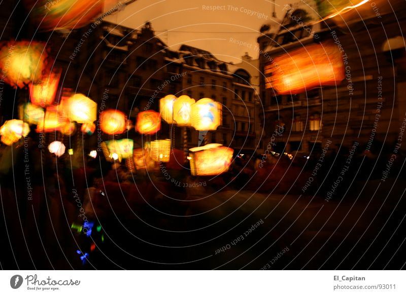 Stromausfall Schweiz Karneval Laterne Umzug (Wohnungswechsel) Altstadt Basel Lampion