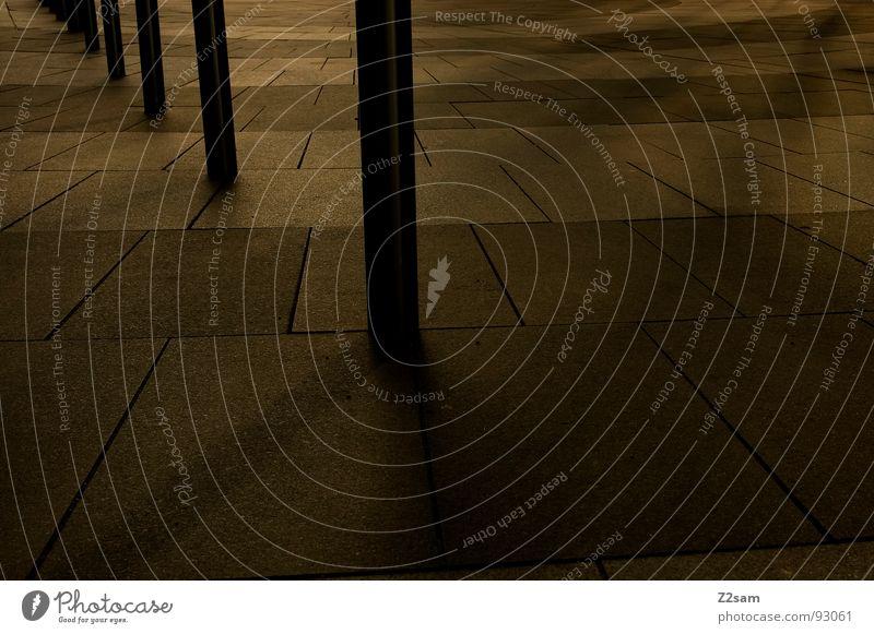 pfostenparade dunkel Stil Linie hell 2 stehen Bodenbelag Fliesen u. Kacheln Reihe Strahlung Geometrie Pfosten graphisch Stab sehr wenige Mosaik