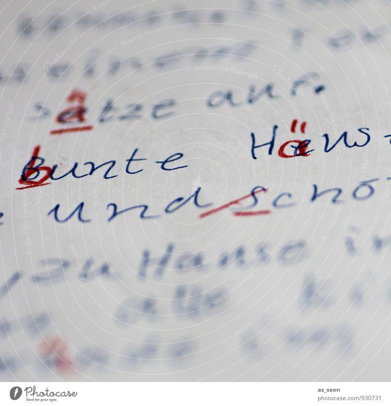 PISA Kind blau weiß rot Leben Schule authentisch Kindheit Schriftzeichen lernen Papier einzigartig Bildung schreiben 8-13 Jahre Schreibstift