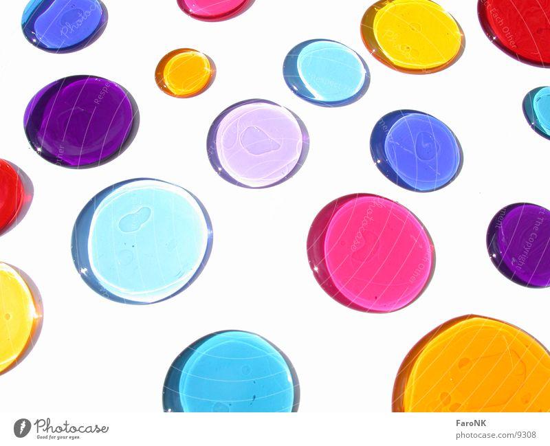 bunte Flecken Farbe mehrfarbig Kreis Fleck Makroaufnahme