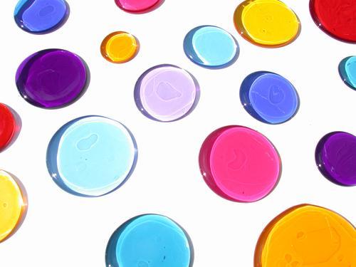 bunte Flecken mehrfarbig Kreis Makroaufnahme Nahaufnahme Farbe
