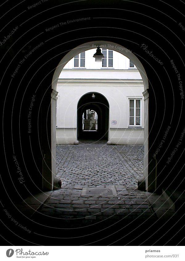 Durchgang Architektur Treppe Kopfsteinpflaster Leiter Durchgang Hauseingang Eingang