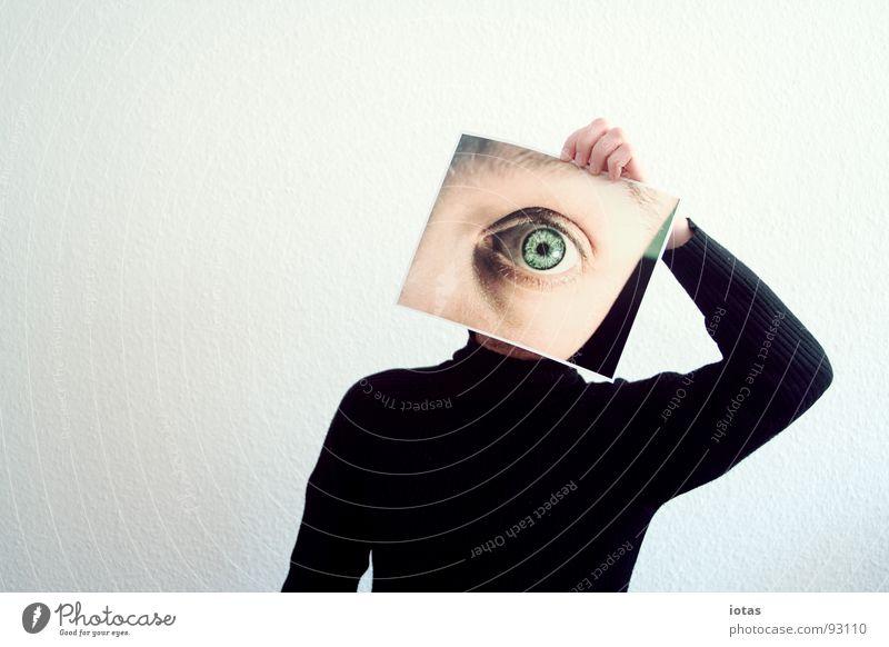 augenzeuge Augenzeuge Blick abstrakt gestikulieren Suche Täuschung Kommunizieren Detailaufnahme Mann Kopf beobachten zyklop Ferien & Urlaub & Reisen planen