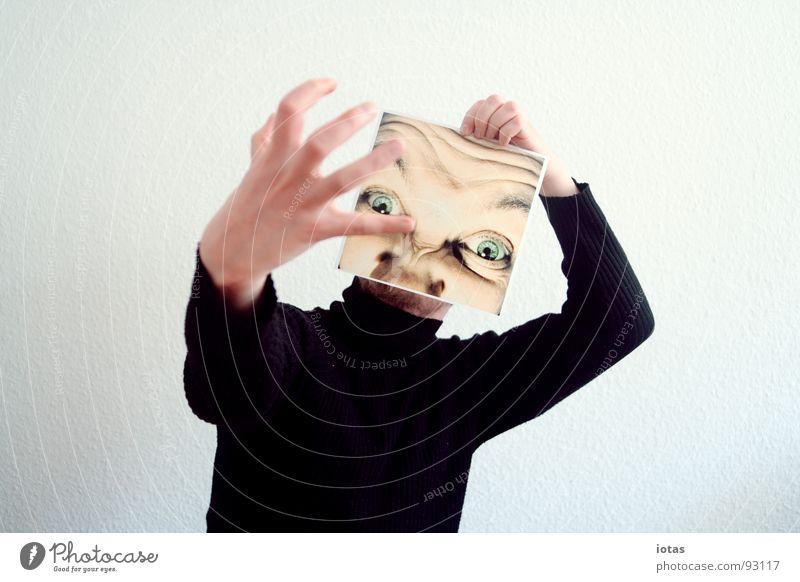 der kapitalist Mann Hand Gesicht Auge Kopf planen Finger verrückt Kommunizieren Wut Konzentration Ärger Aggression extrem Kapitalwirtschaft Täuschung