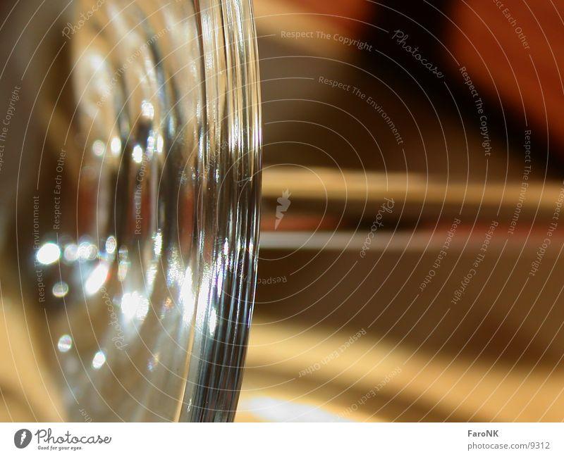 Weinglas Ecke Makroaufnahme Nahaufnahme Glas