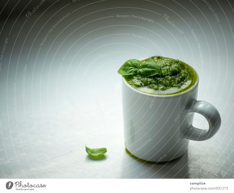 Pesto selbstgemacht grün Essen Gesundheit Lifestyle Lebensmittel Glas Ernährung genießen Kochen & Garen & Backen Kräuter & Gewürze rein Bioprodukte Geschirr