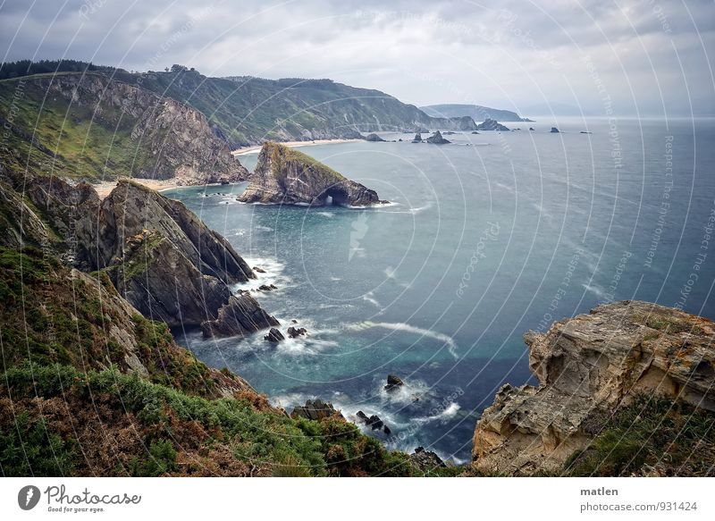 roughly Himmel Natur blau Pflanze grün Sommer Meer Landschaft Wolken Strand Berge u. Gebirge Küste Gras braun Felsen Horizont