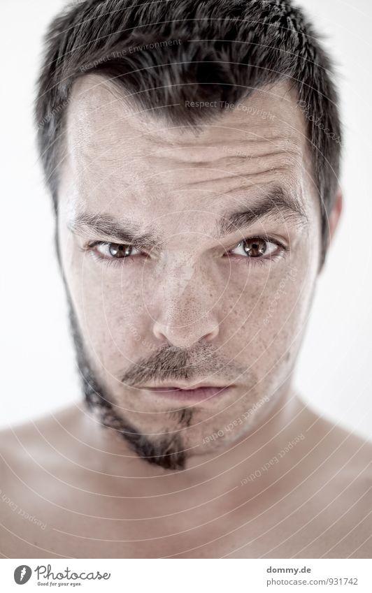 keine halben sachen Mensch Jugendliche Mann alt Junger Mann 18-30 Jahre Erwachsene Gesicht feminin Haare & Frisuren Kopf Behaarung Zufriedenheit sitzen Haut