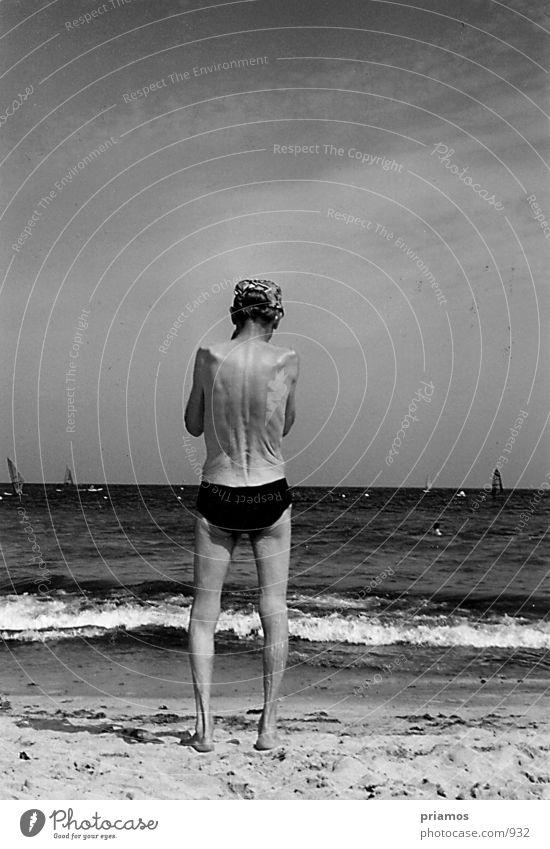 der alte Mann und das Meer Mensch Mann Natur Wasser alt Meer Strand