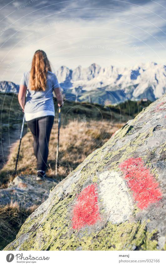 Okay, ich geh dann schon mal los! Ferien & Urlaub & Reisen Tourismus Ausflug Abenteuer Ferne Freiheit Sommerurlaub Berge u. Gebirge wandern Nordic Walking