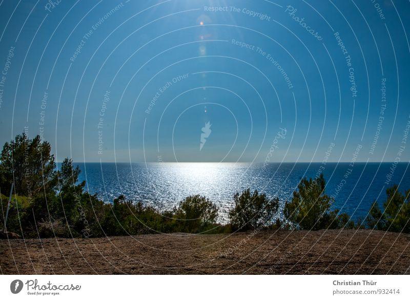 Aussicht auf das Meer Wellness Leben harmonisch Wohlgefühl Zufriedenheit Sinnesorgane Erholung ruhig Meditation Duft Ferien & Urlaub & Reisen Tourismus Ausflug