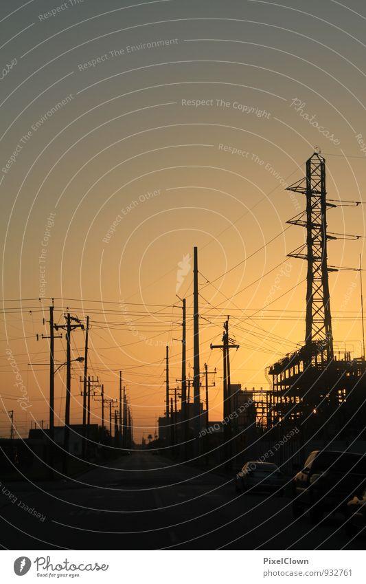 Irgendwo in Texas Wirtschaft Energiewirtschaft Umwelt Klima Stadt Industrieanlage Straße Straßenkreuzung Arbeit & Erwerbstätigkeit komplex Umweltverschmutzung