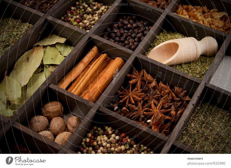 Gewürzvielfalt grün Weihnachten & Advent Kochen & Garen & Backen Kräuter & Gewürze Pfeffer Zutaten Italienische Küche Basilikum Petersilie Zimt Gewürznelke Dill