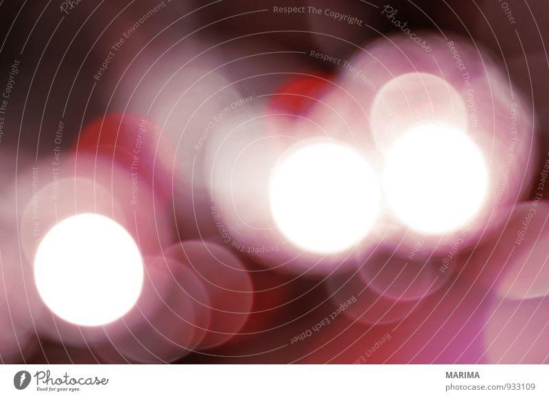 pink Bokeh harmonisch Dekoration & Verzierung Lampe Kunst glänzend hell rosa rot weiß Beleuchtung Energie festlich frohe Weihnachten merry Christmas glühen