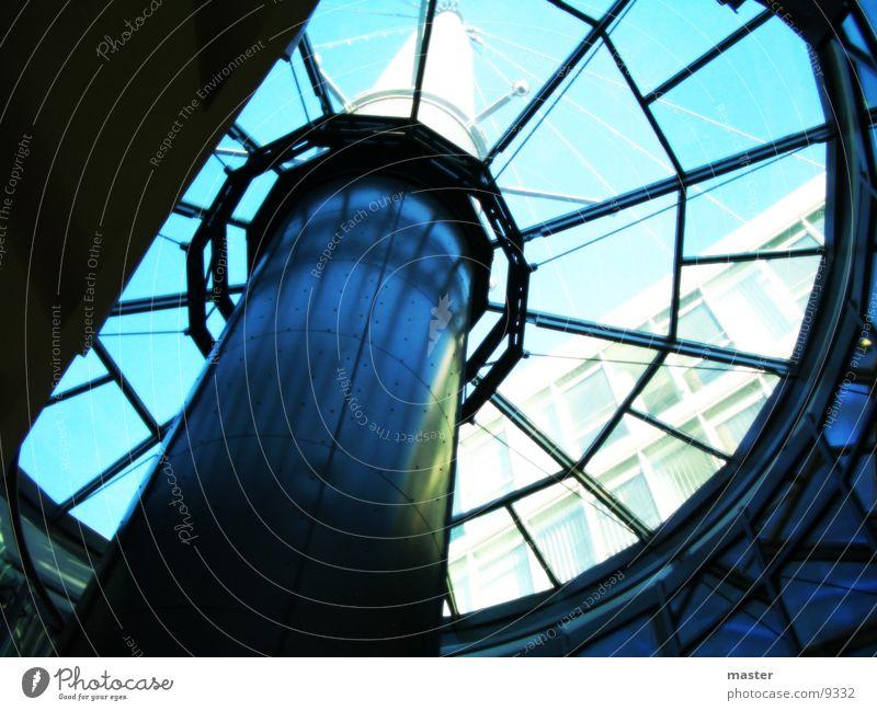 glaskuppel Dach Fenster Architektur Glas Treppe Turm Himmel