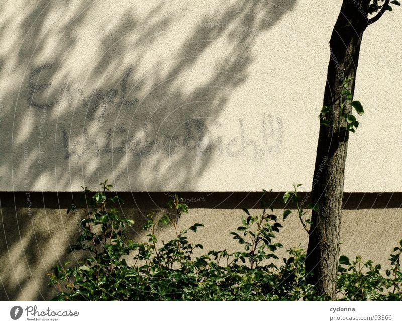 Engel - Ich liebe Dich! Wand Haus Gebäude beschmutzen Schmiererei Sinn Öffentlich Tagger Baum Stadt Gefühle lesen Wunsch Kommunizieren Graffiti Wandmalereien
