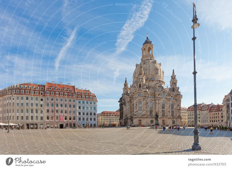 STRASSENLATERNE Laterne Straßenbeleuchtung Dresden Frauenkirche Sachsen Marktplatz Religion & Glaube Kirche Dom Sonne Sonnenstrahlen Ferien & Urlaub & Reisen