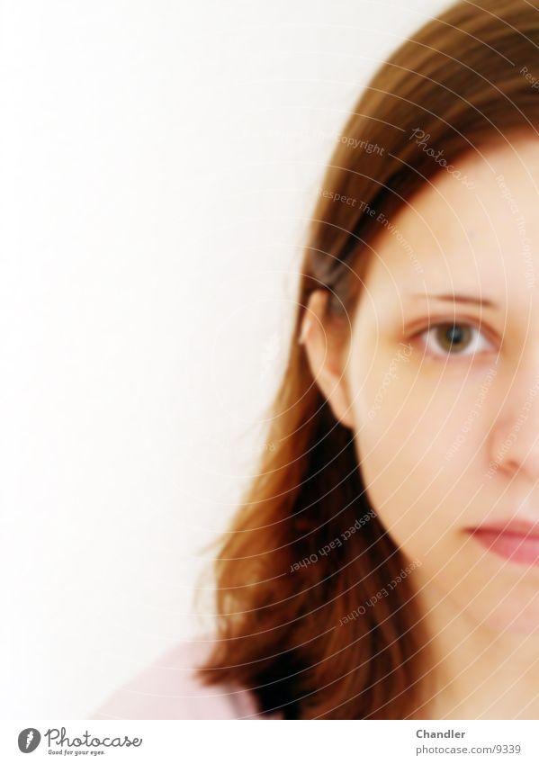 Beautiful Frau Mädchen Gesicht Auge Mund rosa brünett