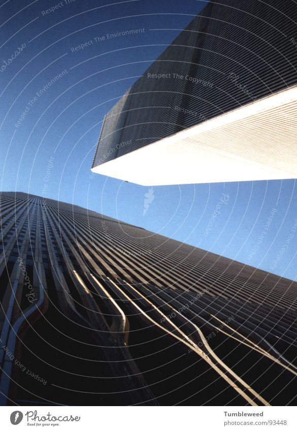 WTC Himmel blau Haus Linie Hochhaus Fassade Perspektive New York City