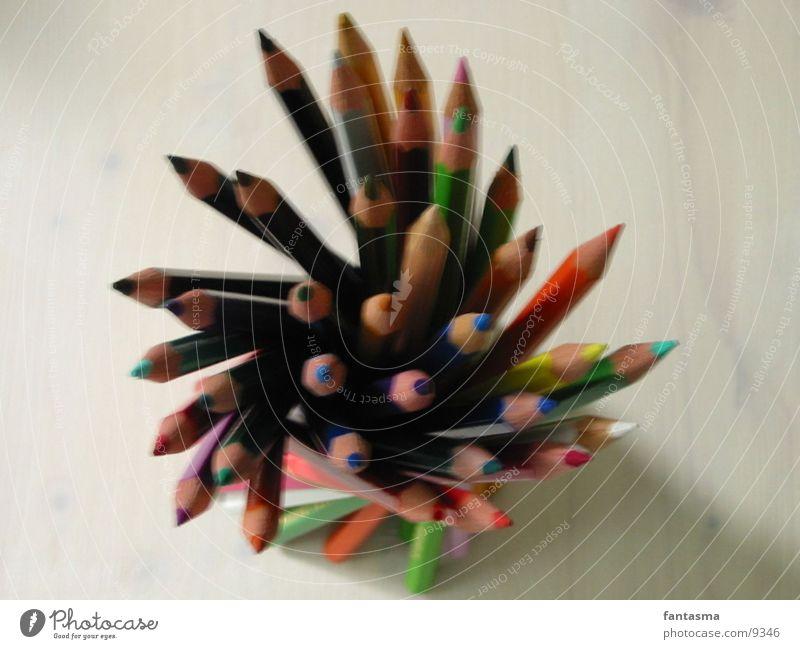 Standing Farbe Farbstift Fototechnik