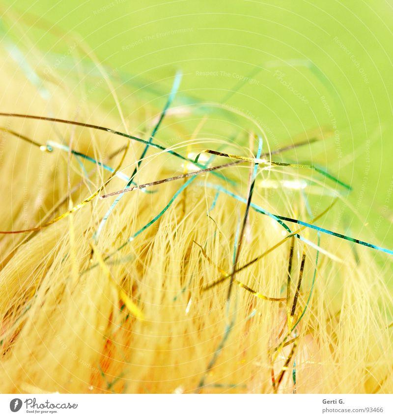 softmix grün gelb Farbe Haare & Frisuren hell glänzend weich zart Schnur sanft Spinne Mischung durcheinander Nähgarn Nähen dezent