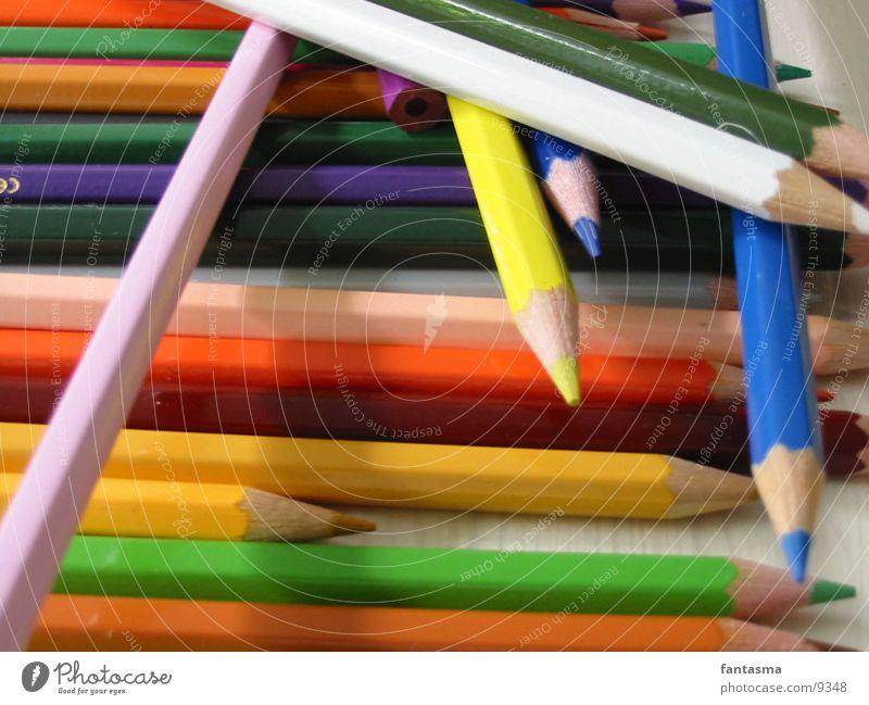 Chaos Farbe chaotisch durcheinander Farbstift Fototechnik