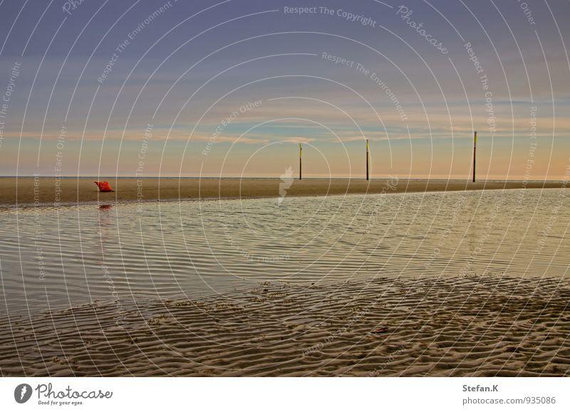 Blick aufs Watt Umwelt Natur Landschaft Wasser Horizont Sonnenaufgang Sonnenuntergang Sommer Schönes Wetter Küste Strand Nordsee Schwimmen & Baden beobachten