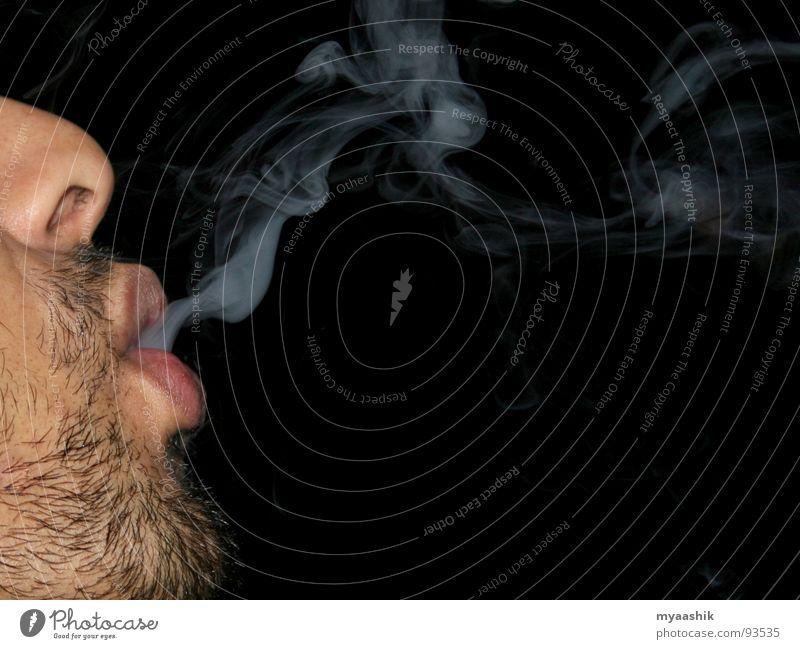 smoke Wind Gesundheit smoking man face with smoke cigarette tobacco stop smoking smoke free
