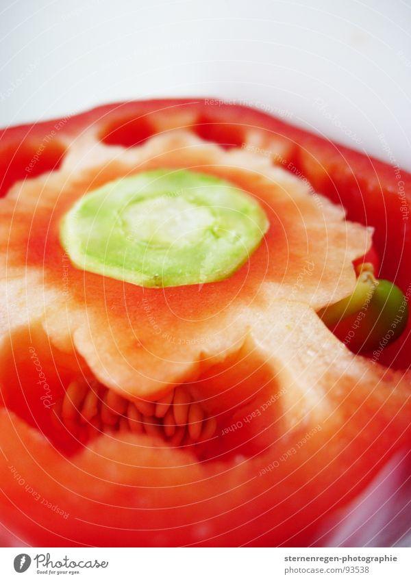 paprika... 1 Paprika rot kochen & garen Ernährung Speisekarte Rätsel Küche Gemüse Makroaufnahme nahaufname