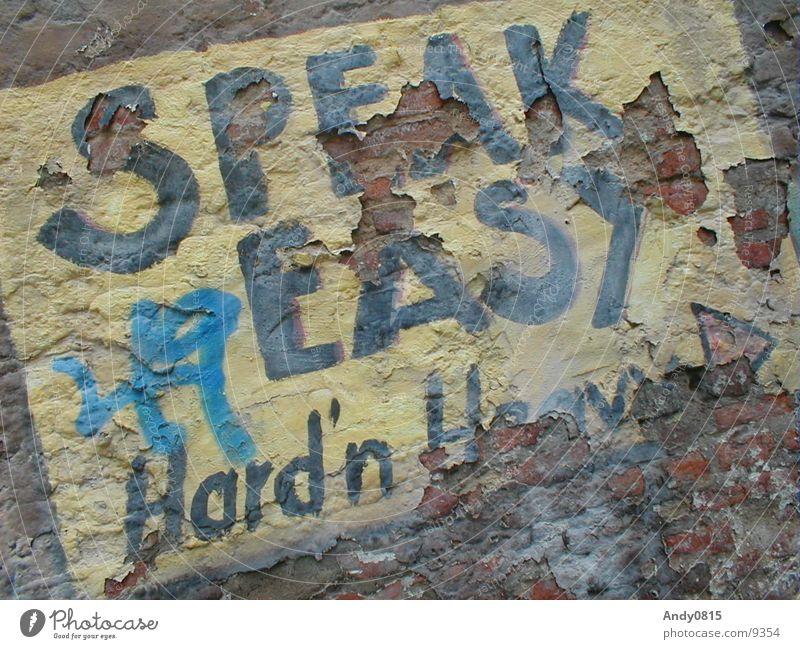Speak Easy 2 sprechen Wand dreckig Verfall Sprache Fototechnik