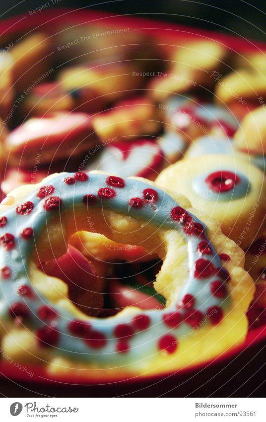 Cake and Candy blau rot Blüte rosa lecker Süßwaren Kuchen Backwaren Zucker Plätzchen Pastellton Zuckerguß
