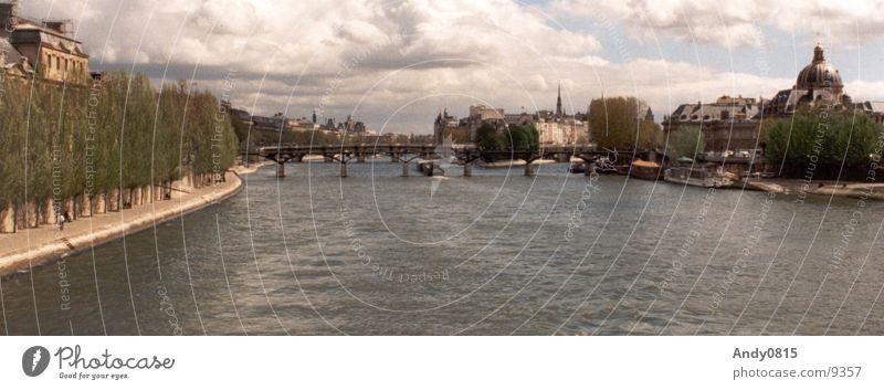 ParisPanorama Stadt groß Fluss Frankreich Panorama (Bildformat) Seine