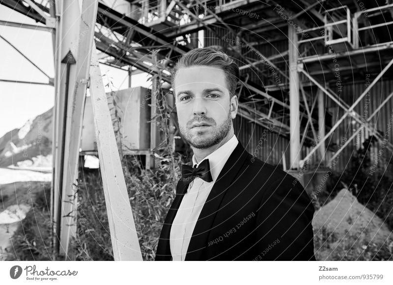 Mr.F Jugendliche schön Junger Mann Erwachsene Stil Mode maskulin Lifestyle elegant Kraft blond Erfolg Coolness Industriefotografie trendy Model