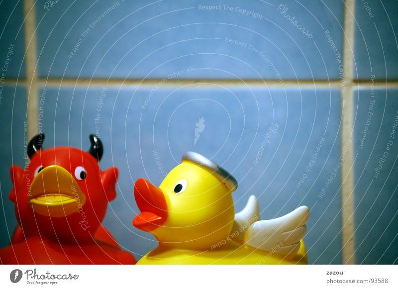 ..sagt der Engel zum Teufel! Badeente Ente Platikente Fun