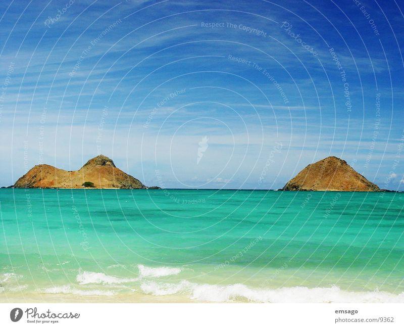 Kailua Bay Wasser Himmel Meer Strand Insel Hawaii Oahu