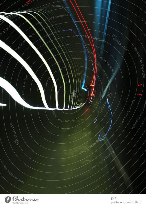 Forward Tunnel Nachtaufnahme Langzeitbelichtung Ferien & Urlaub & Reisen Geschwindigkeit Farbe PKW Space