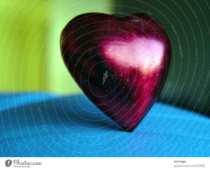 einsame herz rot Unschärfe Nahaufnahme Herz Liebe